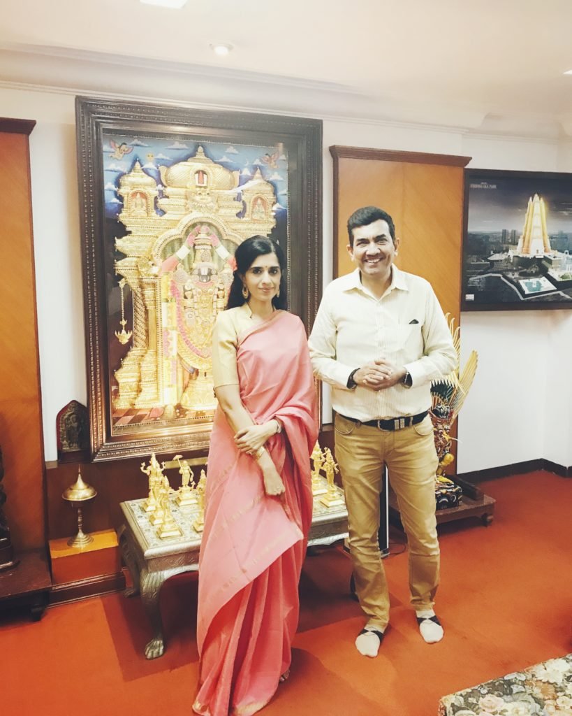 With Sanjeev Kapoor at Akshaya Patra