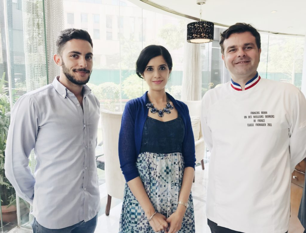 With Chef Francois Robin and Julian Hoarau