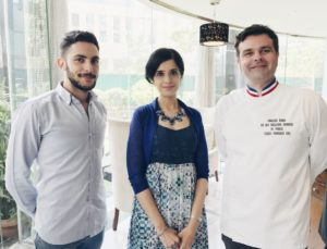 With Chef Francois Robin and Julian Hoarau