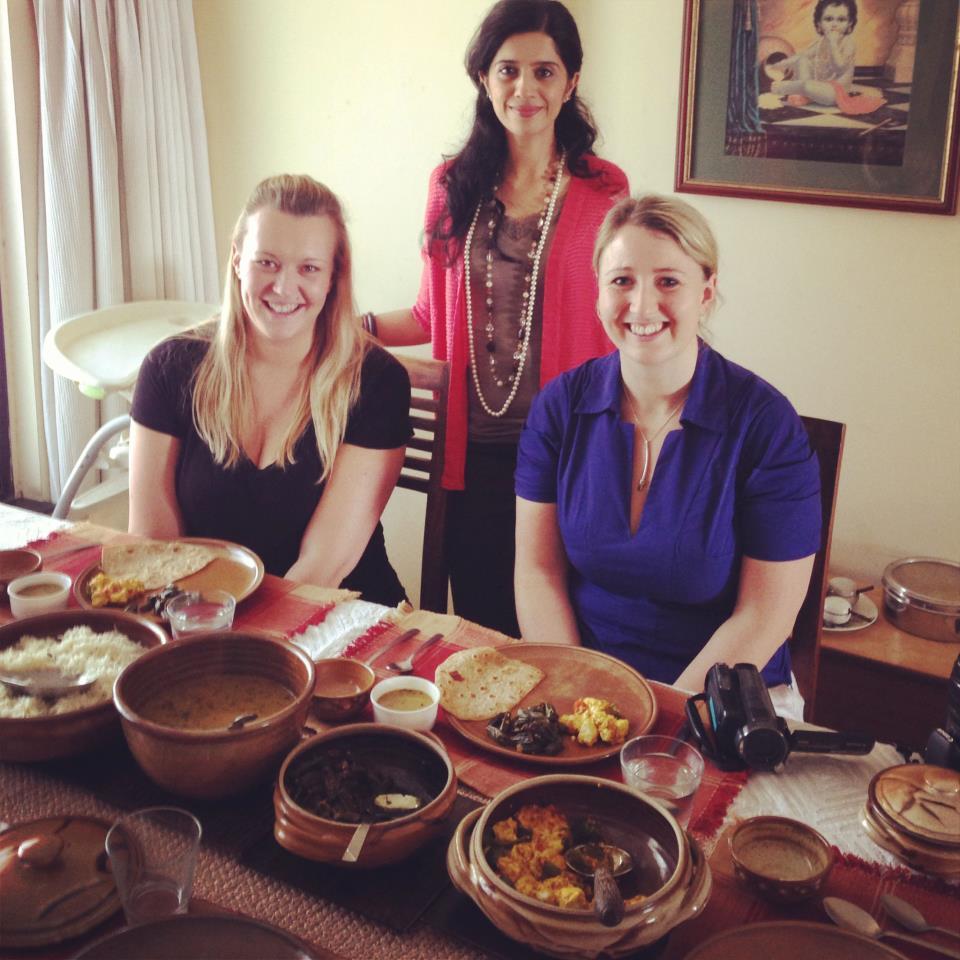 Anushruti with Jenna and Sarah