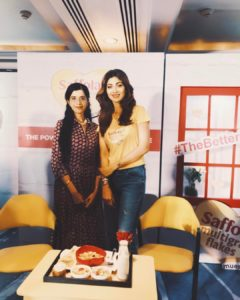 Anushruti with Shilpa Shetty