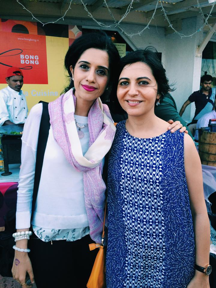 Anushruti with Sona Bahadur at the Great Food Show, Mumbai