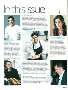 Anushruti and DivineTaste was covered in May 2012 issue of BBC GoodFood