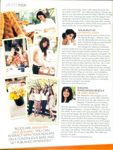 Divine Taste was covered in the Grazia magazine in December 2010